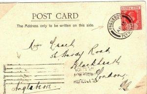 SIERRA LEONE PAQUEBOT Card GB Plymouth CDS & Machine Cancels 1910{samwells}PB351