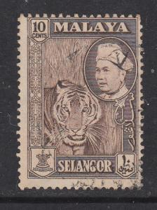 Malaya Selangor 1957 Sc 107 10c Used