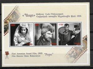 2010 Armenia 868 Pepo Armenian First Sound Film MNH S/S SCV$7.75