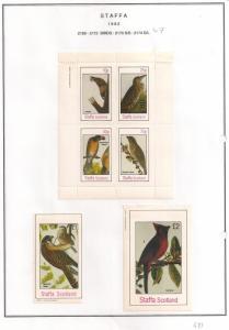 SCOTLAND - STAFFA - 1982 - Birds #60 - Perf 4v, Souvenir, De Luxe Sheets - MLH