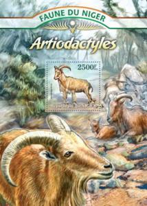 Niger - Hoofed Animals & Goats - Souvenir Sheet - 14A-061