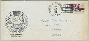 big033 - USA - POSTAL HISTORY -  COVER to ITALY 1969  POLAR  Station ANTARCTICA