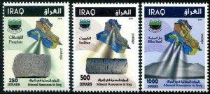 HERRICKSTAMP NEW ISSUES IRAQ Sc.# 2033-35 Minerals