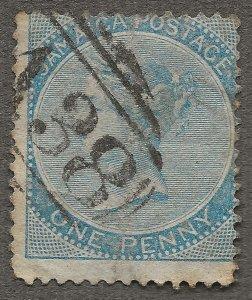JAMAICA 1860 SG1 1d Blue Used QV - British Empire