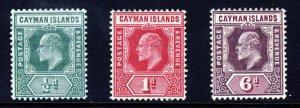CAYMAN ISLANDS King Edward VII 1907-09 Wmk Mult. Crown CA Group SG 25 to 30 MINT