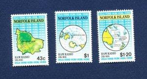 NORFOLK ISLAND - 501-503  - VF MNH - Ham Radio  - 1991