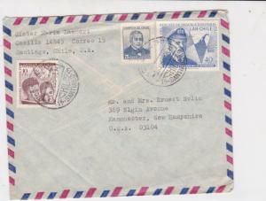 chile 1968 stamps cover ref 19513