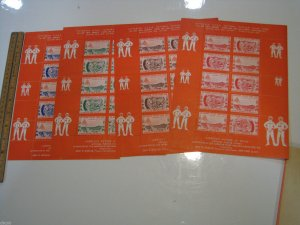Set of 4 Colors Poster Stamp Sheets 1963 ASDA A.S.D.A. Stamp Show NYC Space MNH