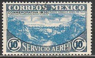 MEXICO C77, 10c HIGHWAY INAUGURATION, USED. F-VF. (1402)