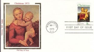 1973, Christmas, Colorano Silk, FDC (D15148)