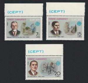 Turkey Europa CEPT Artists Doctor 3v Top Margins 1980 MNH SG#2692-2694