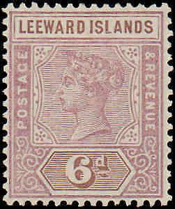1890 Leeward Islands #5, Incomplete Set, Hinged