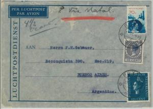75345 - The NETHERLANDS - Postal History - AIRMAIL  COVER to ARGENTINA 1938
