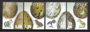 2002    FAROE ISLANDS  -  SG.  435 / 438  -  BIRDS  -  MNH