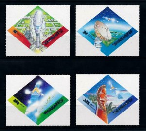 [102259] Vanuatu 2000 Space travel weltraum Intelsat Self adh. MNH