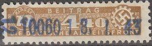 Stamp Germany Revenue WWII Fascism War Era War DAF LR 13 440 Used