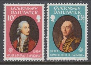 Guernsey 207-208 MNH VF