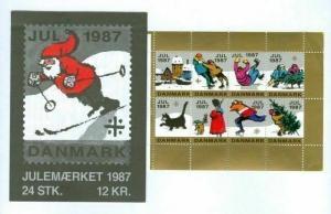 Denmark.  Booklet  1987  Christmas Seals  Mnh. Cat. Winter In Denmark