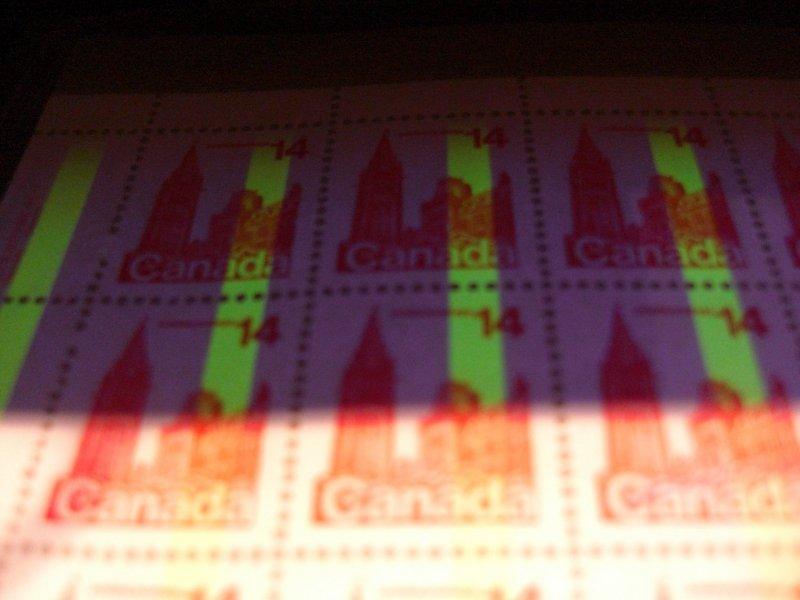 Canada #715 ERROR NH sheet of 50 Sealed  *One bar tag Shifted Variety* C$2700.00
