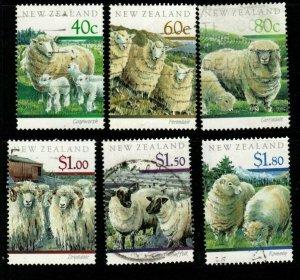 NEW ZEALAND SG1579/84 1991 SHEEP FINE USED