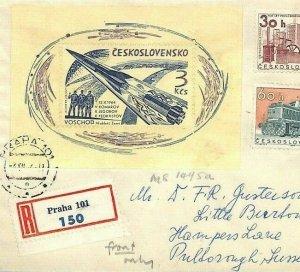 Czechoslovakia SPACE Cover Front 1964 VOSKHOD ASTRONAUT 3k Miniature Sheet BU112