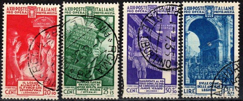 Italy #B39-42   F-VF Used CV $103.00 (X3079)