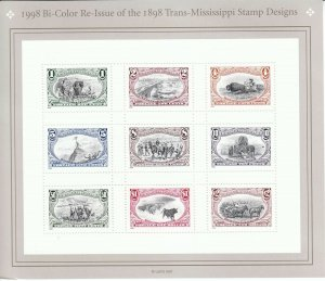 Stamp US Sc 3209 Sheet 1998 Trans-Mississippi Centenary 1898 Re-issued MNH