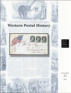 MINERS TEN COMMANDMENTS WESTERN POSTAL HISTORY CATALOG, 2015 RUMSEY AUCTION