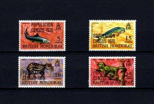 BRITISH HONDURAS - 1970 - POPULATION / CENSUS - OVPT - WILDLIFE - MINT MNH SET!