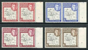 Falkland Is Deps SG G3/7 With Plate number 4 and C for 0 U/M set of 4