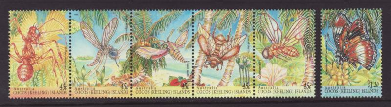 Cocos Keeling Islands 302-303 Insects MNH VF