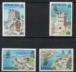 Bermuda Sc 429-32 1982 Forts stamp set  mint NH
