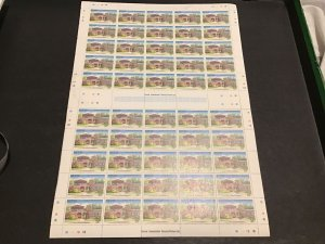 Nevis Croney's Old Manor Hotel  MNH full Stamps Sheet folded Ref 49787