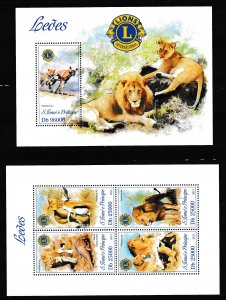 Sao Tome and Principe - LIONS - Set + S.S. - MNH