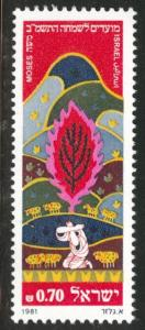 ISRAEL Scott 787 MNH**  1981 stamp without tabs