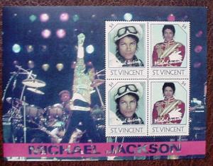 St Vincent 3666, $2 Michael Jackson,  sheet, MNH