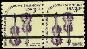# 1813a MINT NEVER HINGED PRE-CANCELLED WEAVER VIOLINS