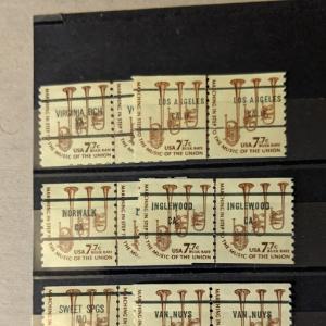 U.S. 1614a pre-cancel line pairs, VF, CV $19.50