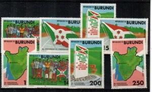 Burundi Scott 671-8 Mint NH (Catalog Value $22.00)
