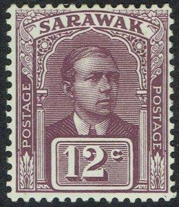 SARAWAK 1918 RAJA BROOKE 12C NO WMK