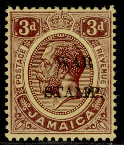 JAMAICA GV SG75, 3d purple-yellow, M MINT.