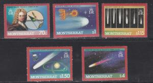 Montserrat # 605 / 612, Halleys Comet, NH 1/3 Cat.