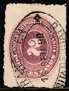 MEXICO 213, 2c LARGE NUMERAL, F-VF USED. F-VF. (225)