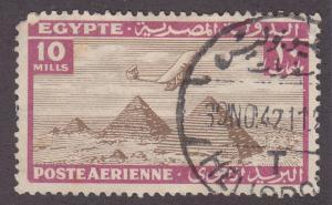 Egypt C15 Airplane Over Giza Pyramids 1933