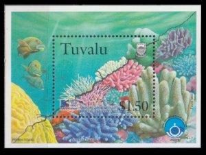 1998 Tuvalu 817/B65 Sea fauna