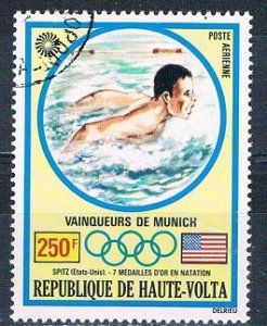 Burkina Faso C120 Used Swimmers 1972 (MV0295)