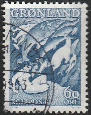 Greenland, #43 Used From 1957-69