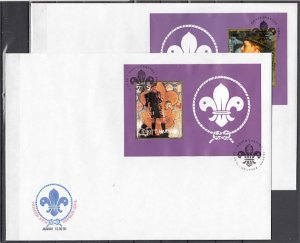 Hakasia, 2000 Russian Local. 2 Scout s/sheets on 2 Large First day covers. ^