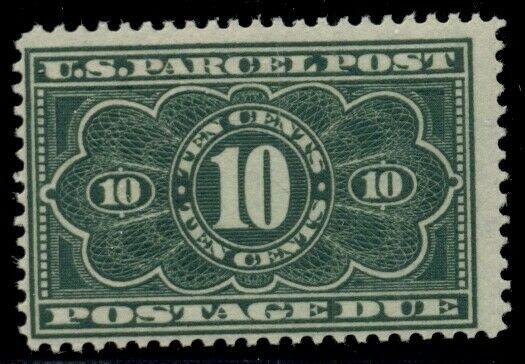 US #JQ4, 10¢ dark green, fresh og, hinged, F/VF, Scott $110.00
