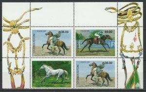 Uzbekistan 1999 Horses 4 MNH stamps